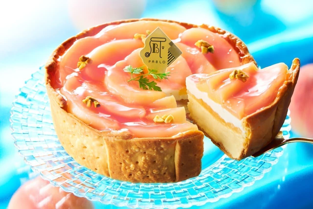 パブロ「白桃とヨーグルトのチーズタルト」