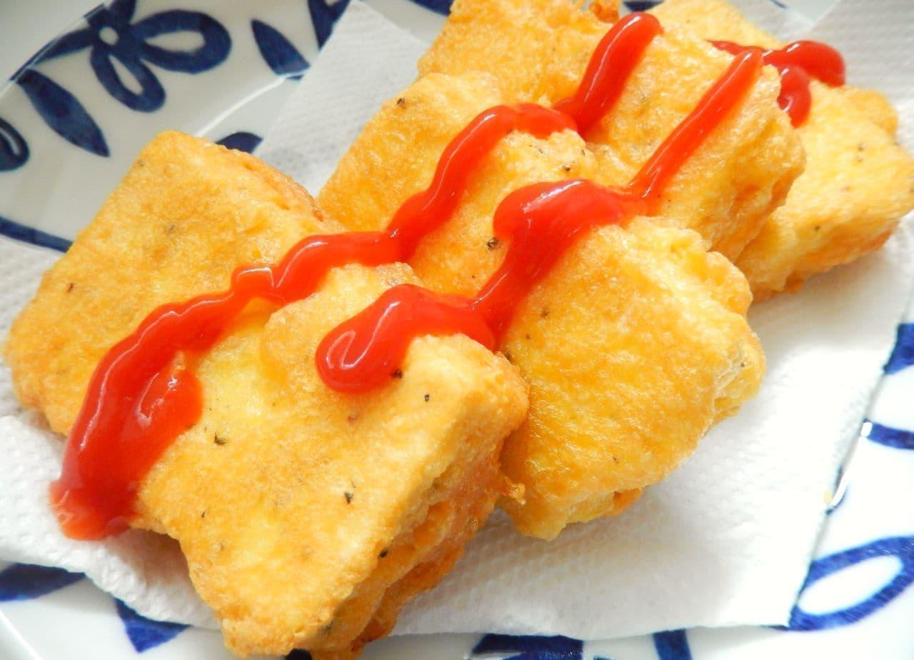 糖質制限レシピ「高野豆腐のピカタ風」