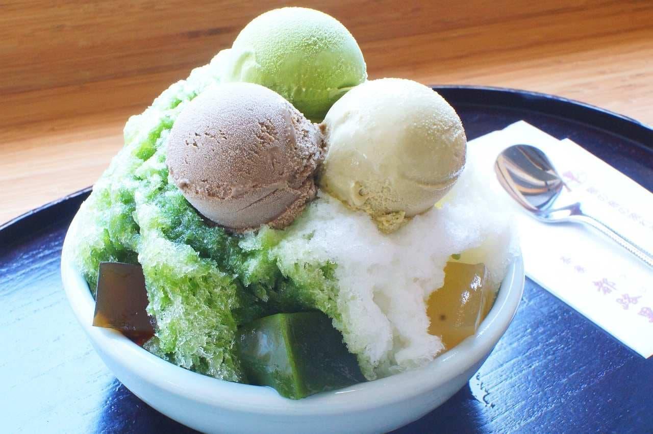 茶寮都路里大丸東京店のかき氷「茶々しぐれ」