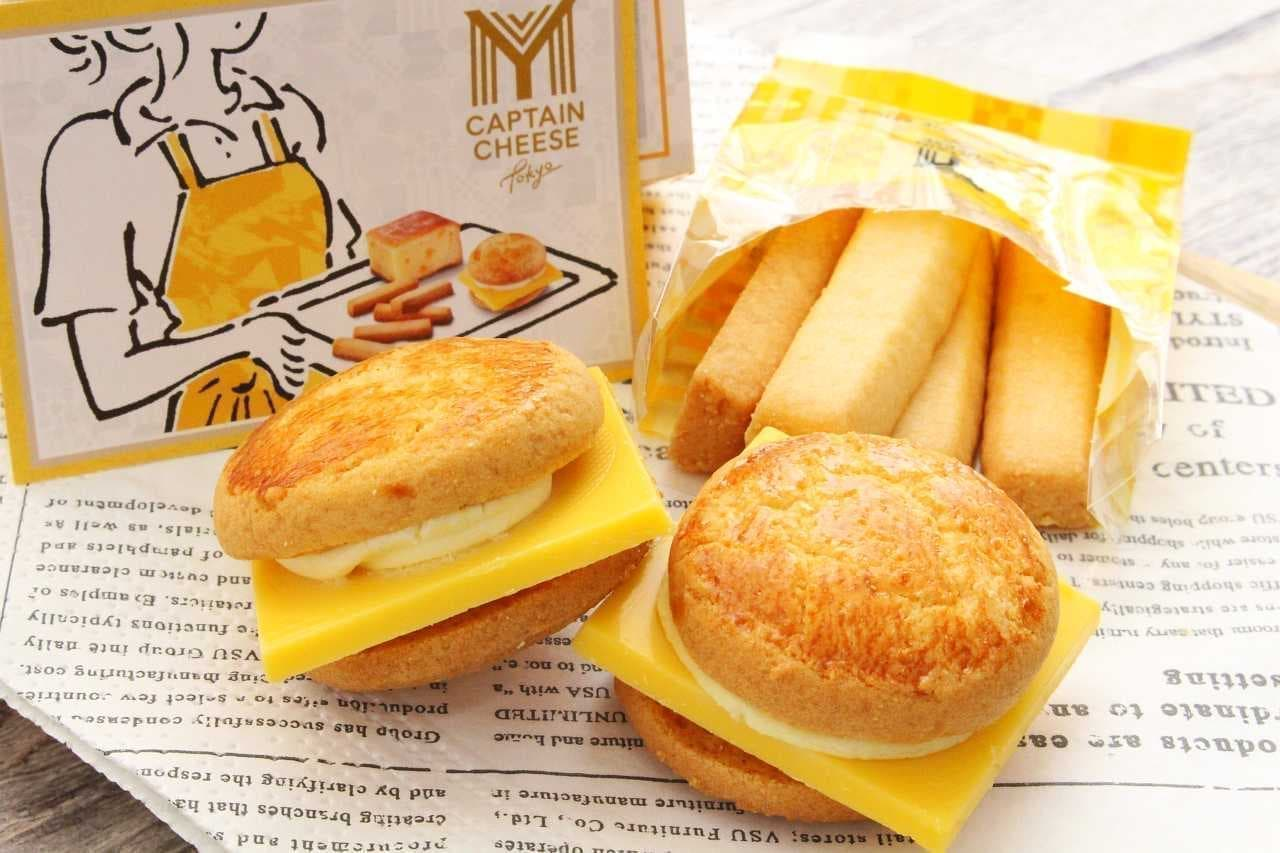 マイキャプテンチーズTOKYO「チーズチョコレートバーガー」と「チーズクッキースティック」