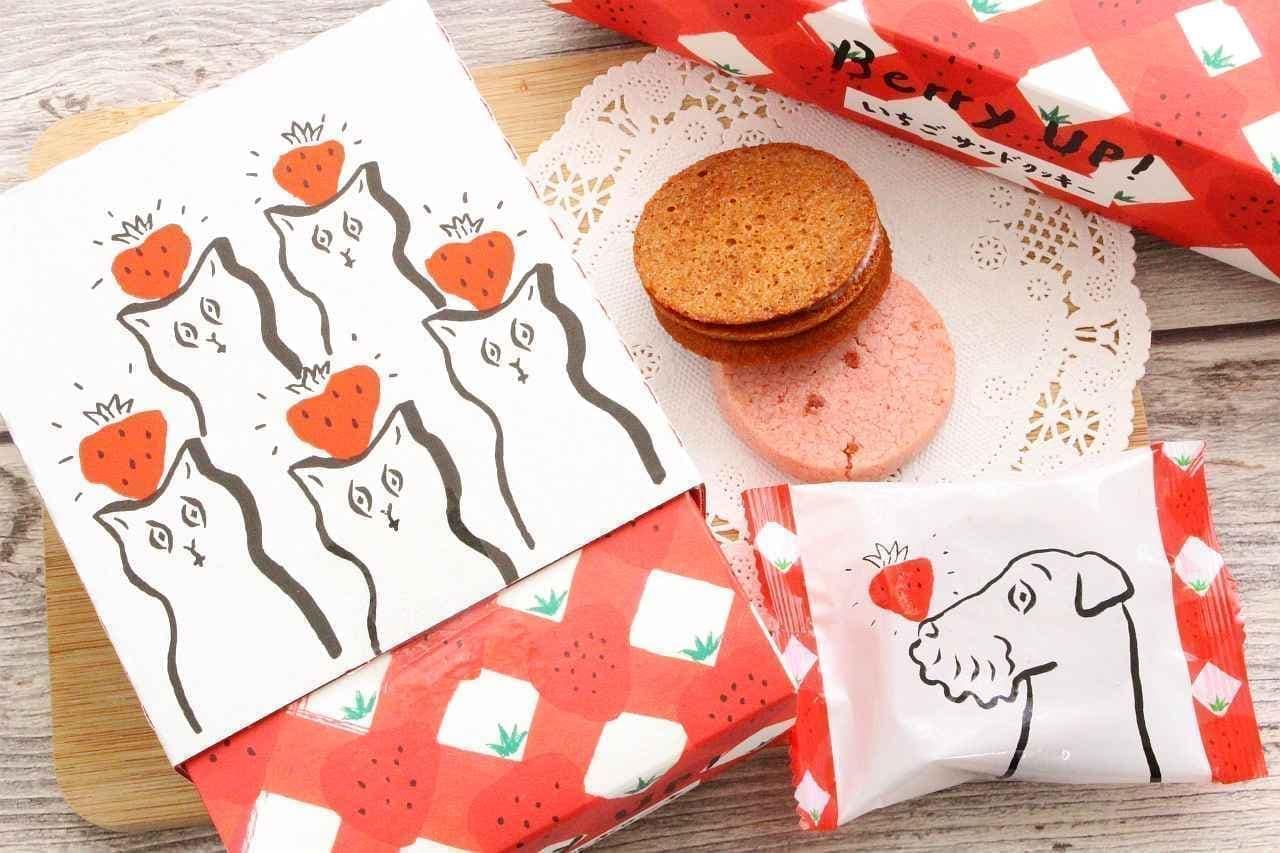 Berry UP!(ベリーアップ)の「いちごサンドクッキー」と「いちごポルボローネ」