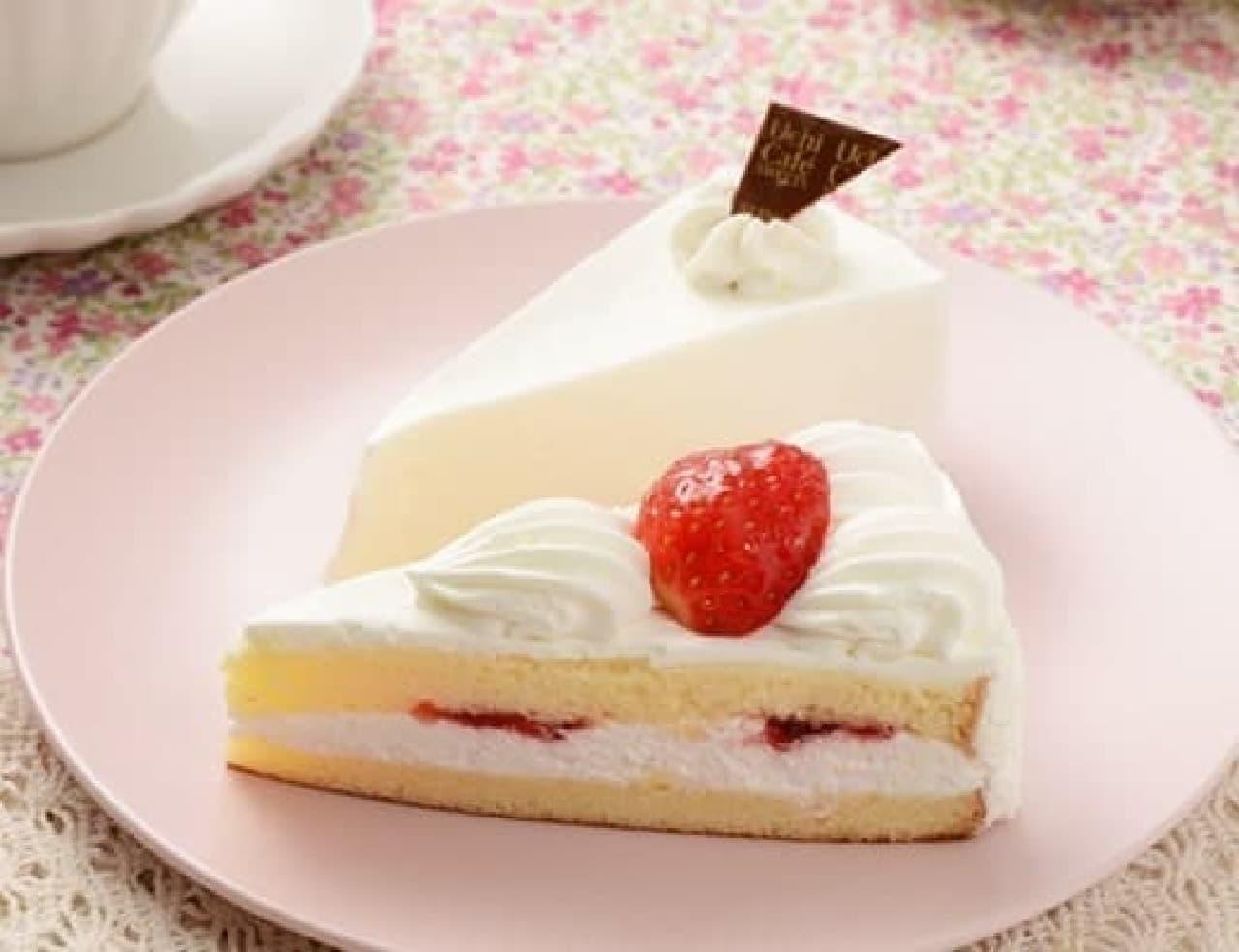 ローソン「苺のショートケーキ&レアチーズケーキ」