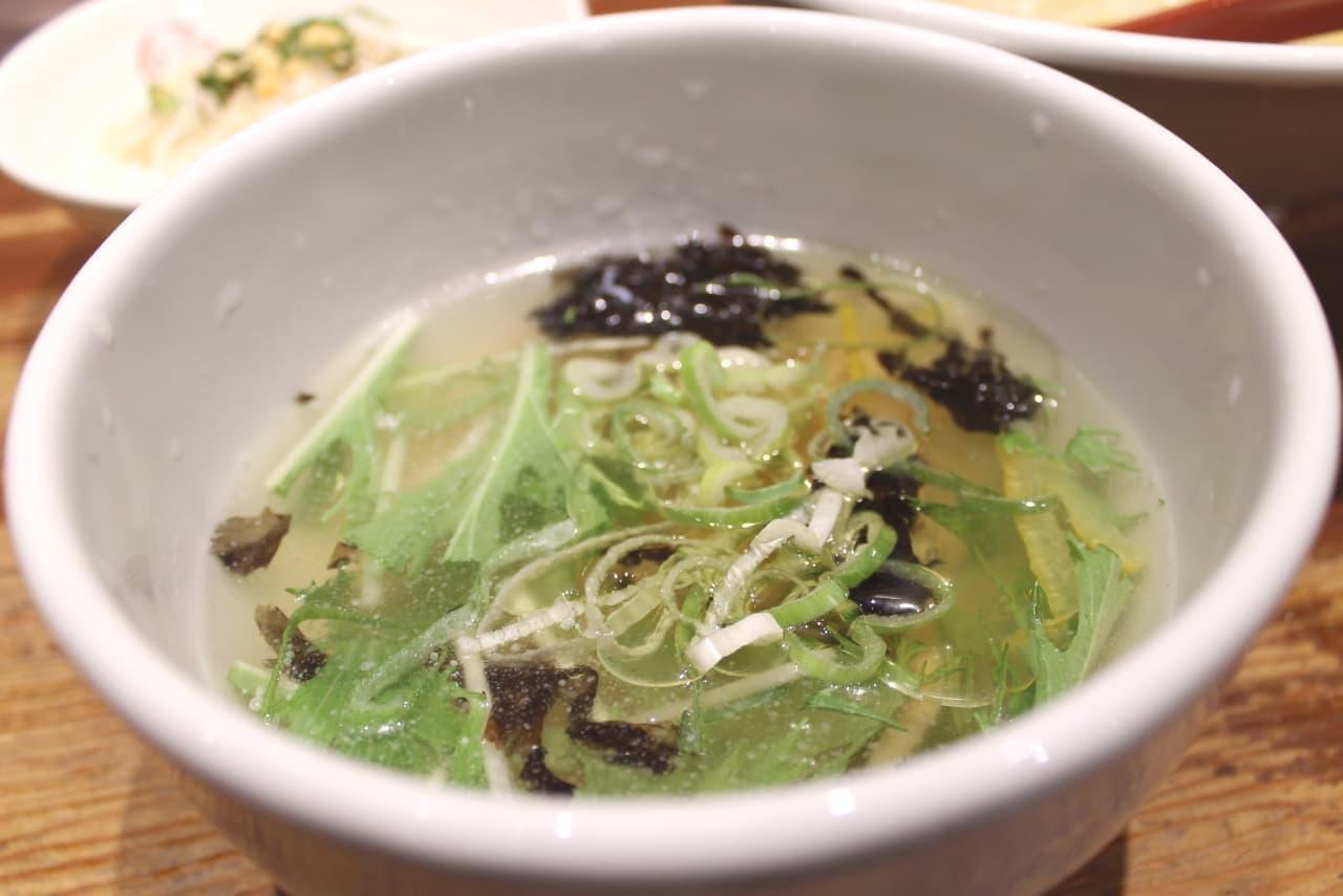 三田製麺所「冷やし鯛だし塩つけ麺」