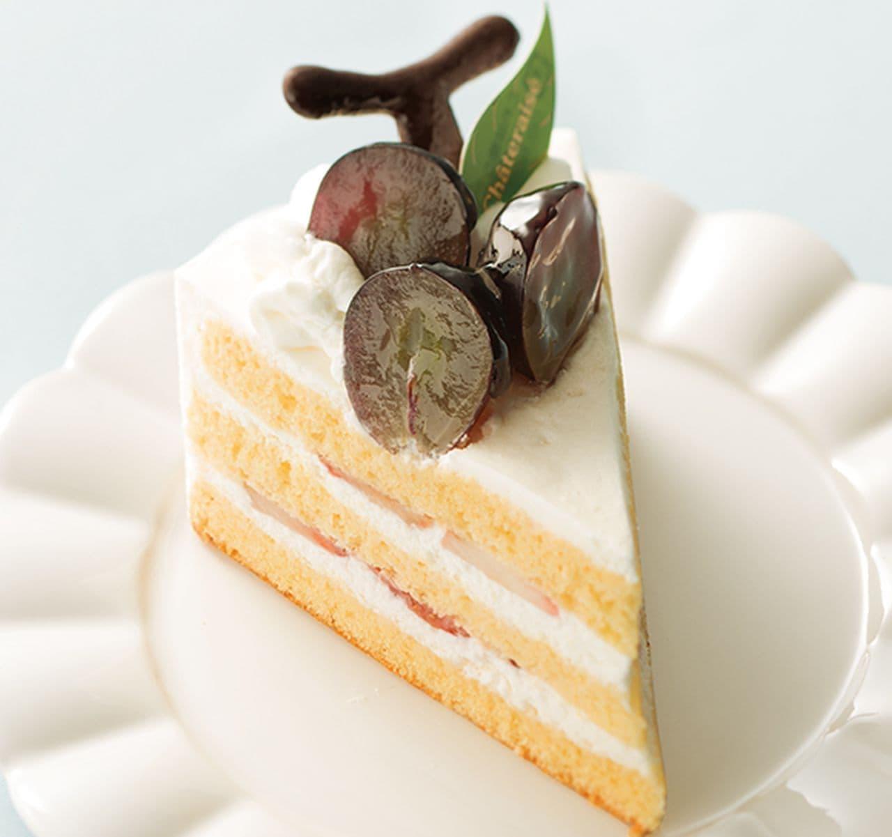 シャトレーゼ「山梨県産ピオーネ使用ピオーネのプレミアムショートケーキ」