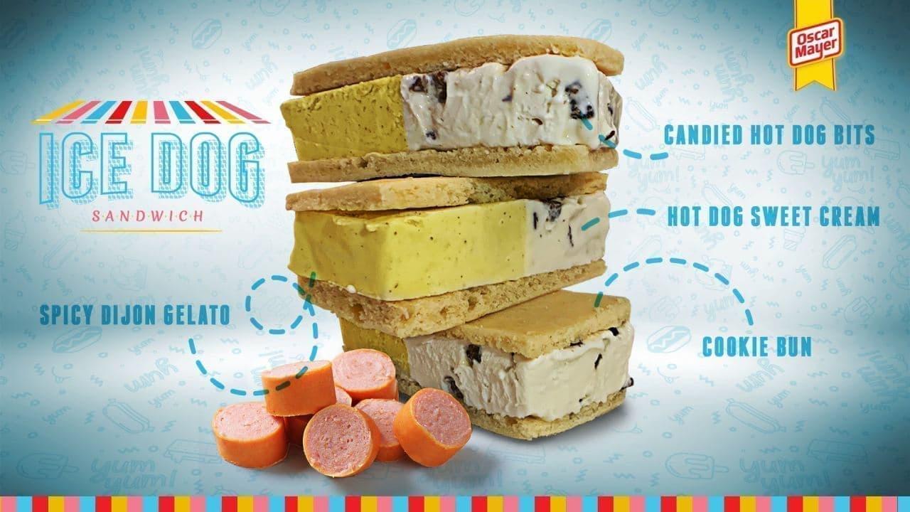 ホットドッグ味のアイスクリーム「Ice Dog(アイスドッグ)」