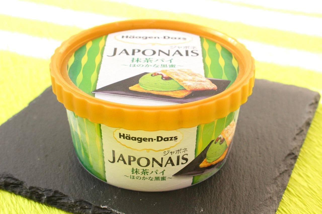 セブン-イレブン限定ハーゲンダッツ「ジャポネ 抹茶パイ~ほのかな黒蜜~」