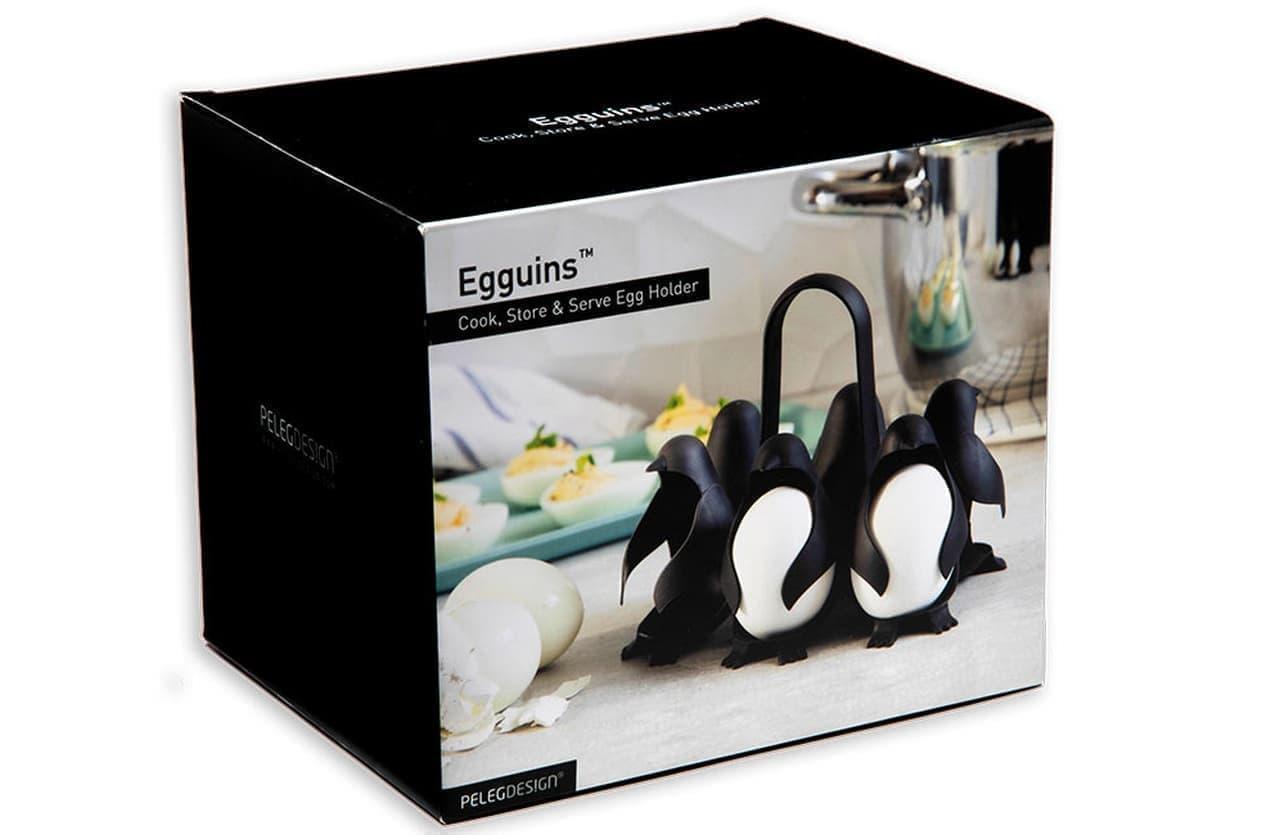 ペンギン型のエッグホルダー「Egguins」