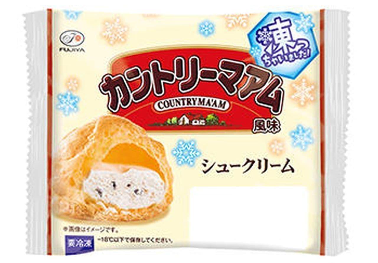 不二家「シュークリーム凍っちゃいました! (カントリーマアム風味)」