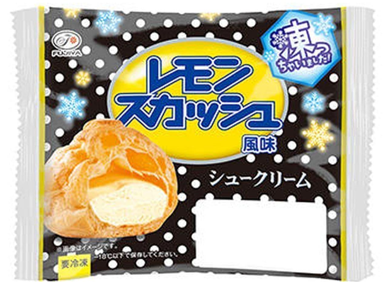 不二家「シュークリーム凍っちゃいました! (レモンスカッシュ風味)」