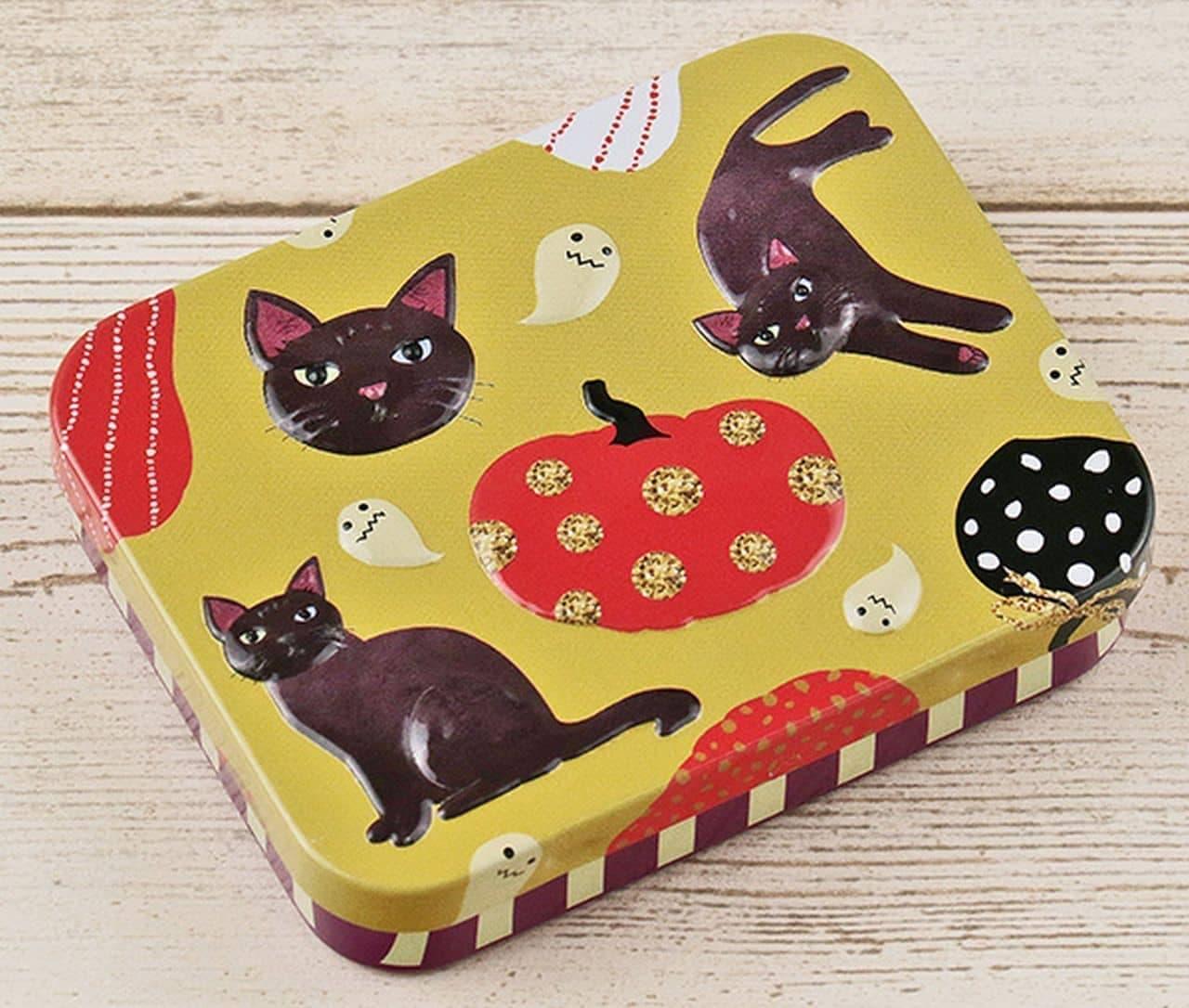カルディ「カルディオリジナル ハロウィンミニ缶 黒猫」