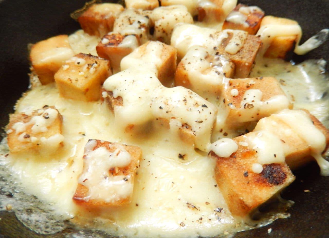糖質オフおつまみ「高野豆腐のチーズ焼き」
