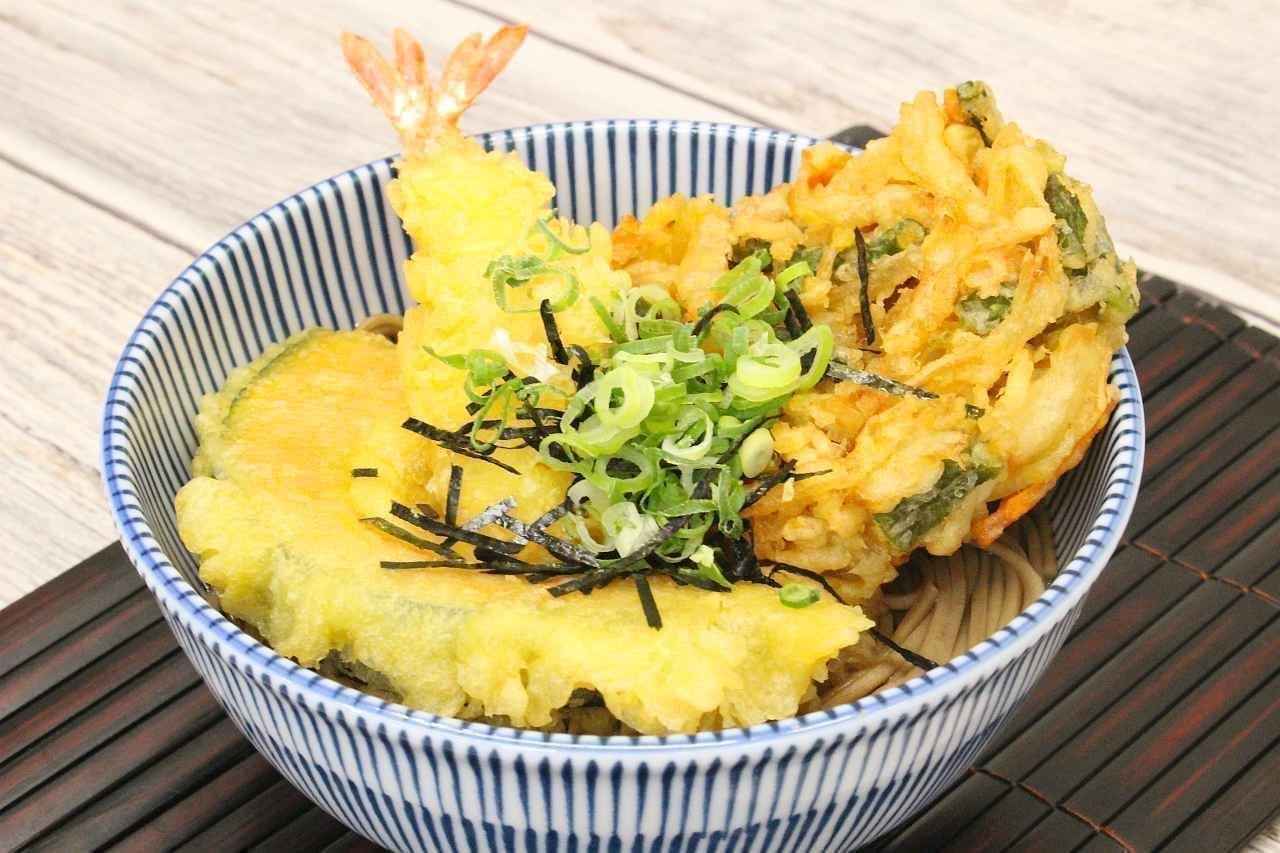 イトーヨーカドーの天ぷらで作った「天ぷらそば」