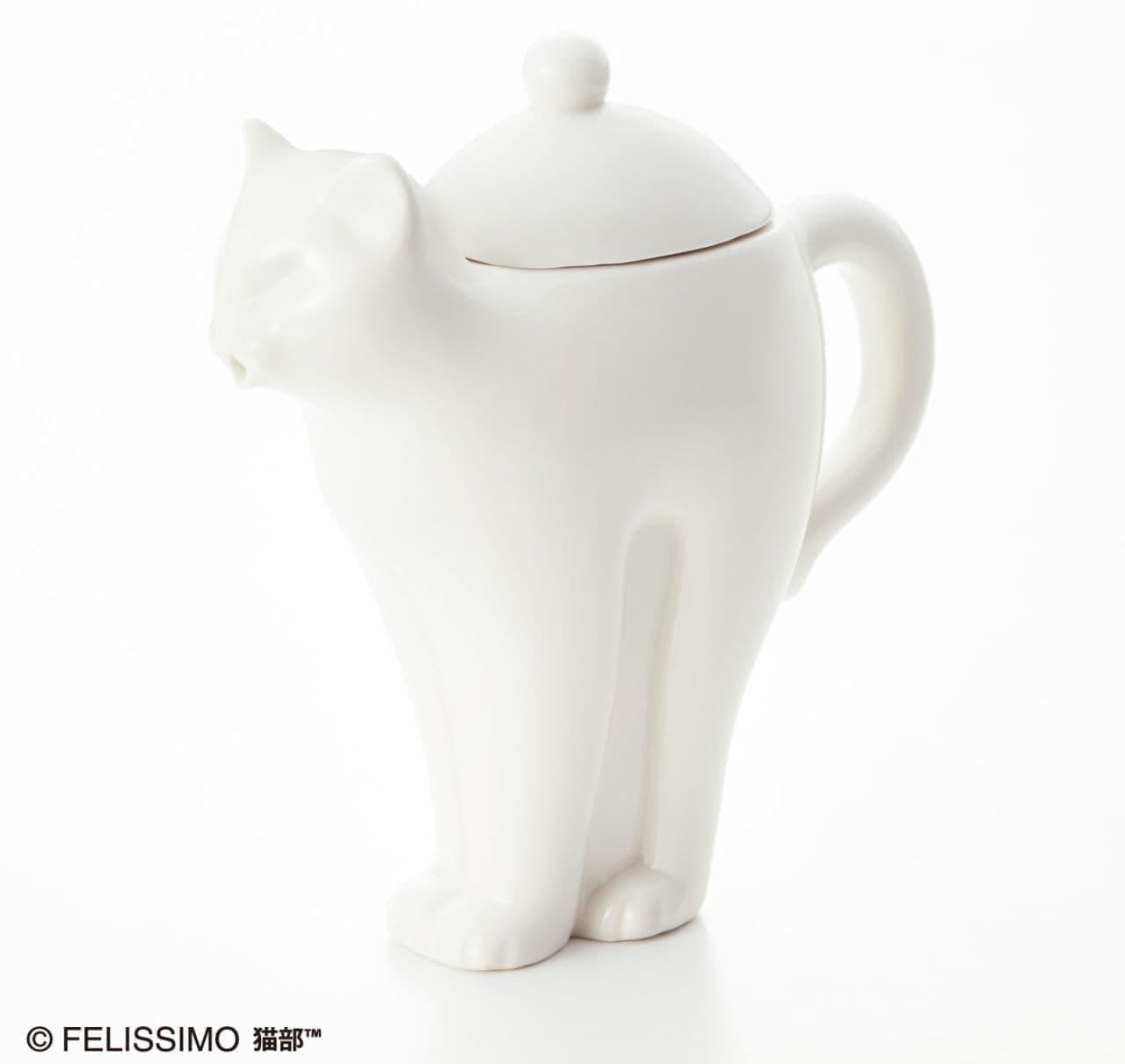フェリシモ猫部「ぐぐぐぅ~とリラックス 伸び猫ティーポット」