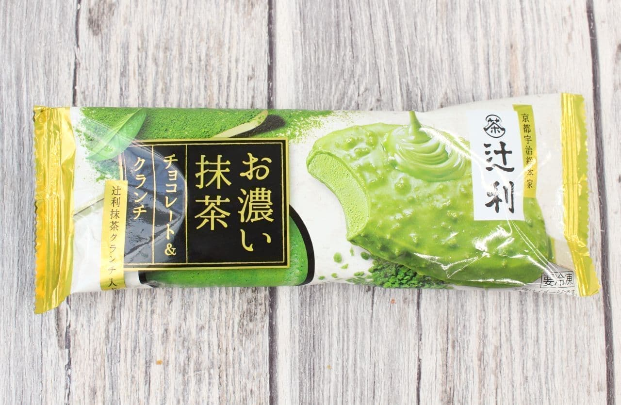 明治「辻利 お濃い抹茶 チョコレート&クランチ 90ml」