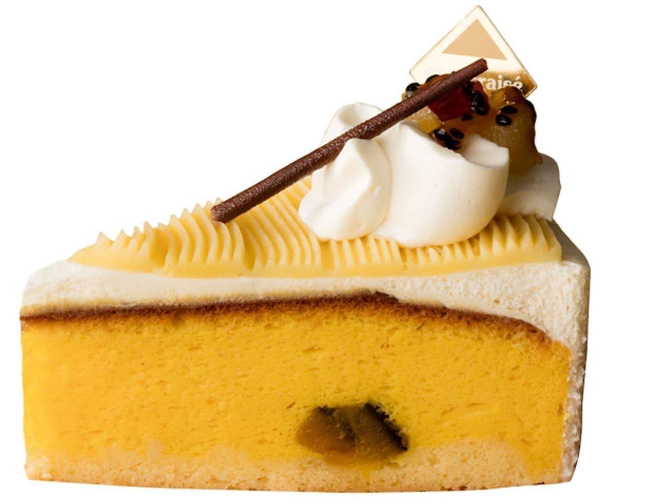 シャトレーゼ「鳴門金時とかぼちゃの スフレチーズケーキ」