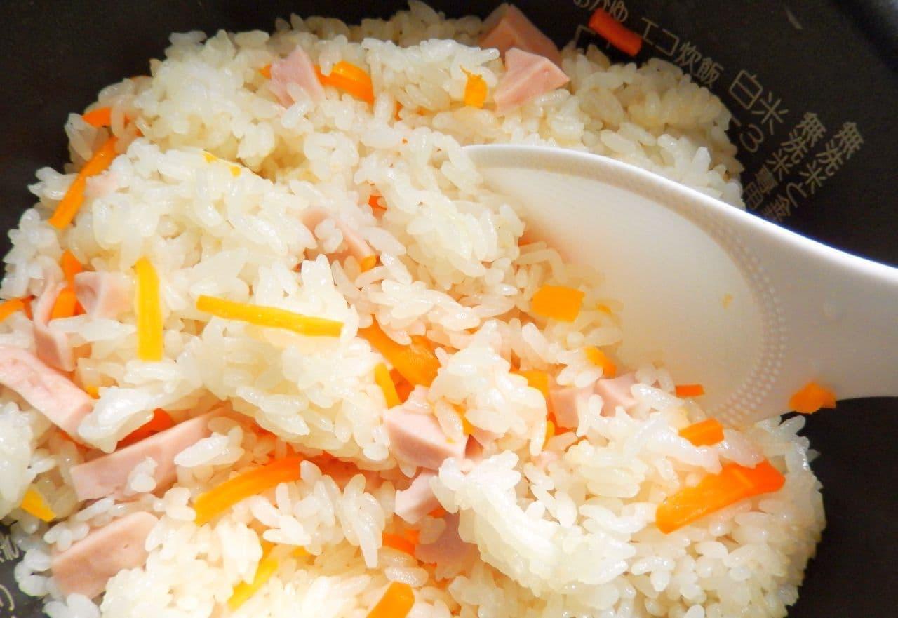 魚肉ソーセージの炊き込みご飯