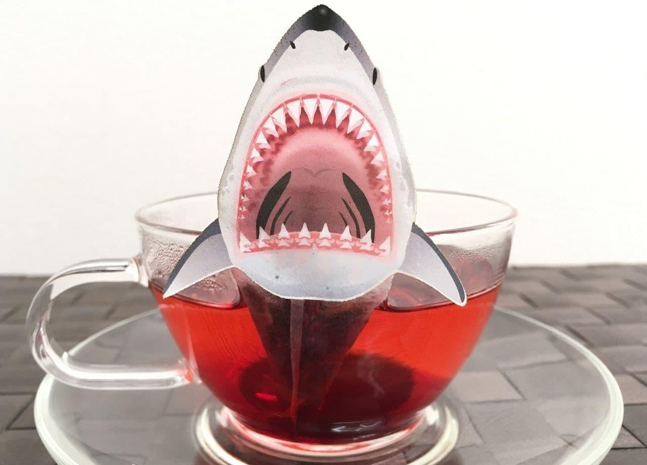 ocean-teabag(オーシャンティーバッグ)「襲い来るサメのティーバッグ ブレンドハーブティー(ローズヒップ ハイビスカス)」