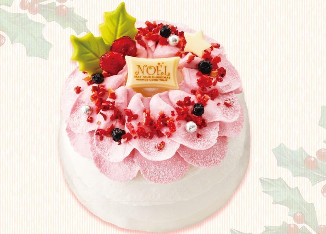 銀のぶどう「華やかフルーツリースでドレスアップ!よくばりダブルチーズケーキ」