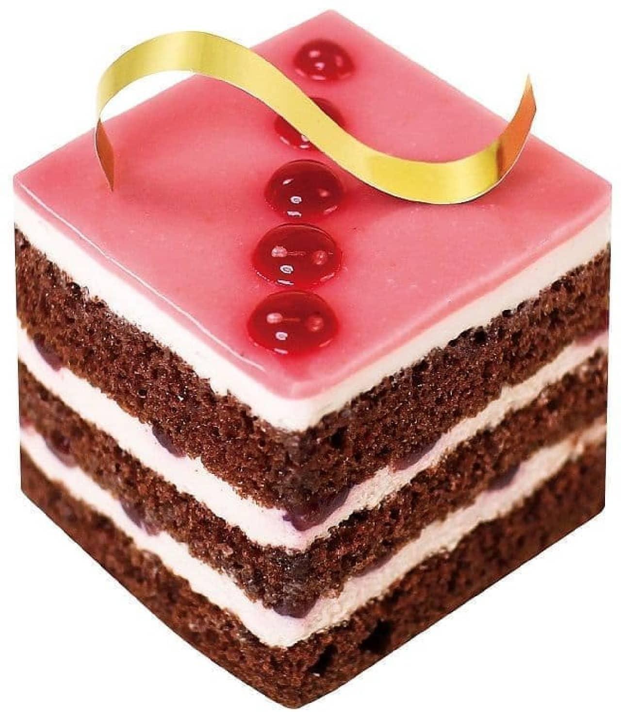 不二家洋菓子店「ルビーカカオクリームのケーキ」