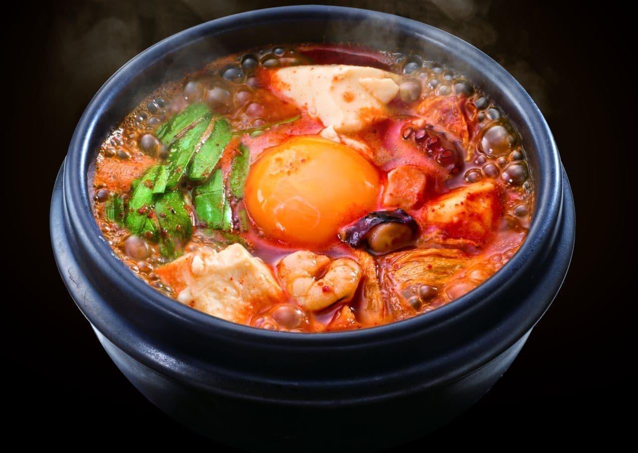 牛角「海鮮とキムチの豆富チゲ」