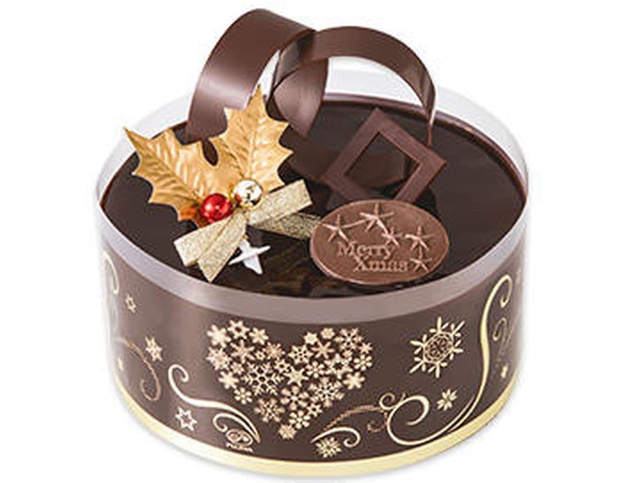 不二家「クリスマスプレミアムショコラケーキ」