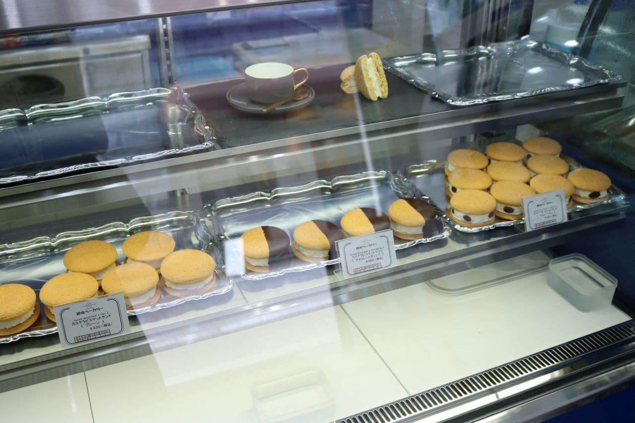 ギンビスのカフェ「銀座ベーカリー」名物「カステラビスケットサンド