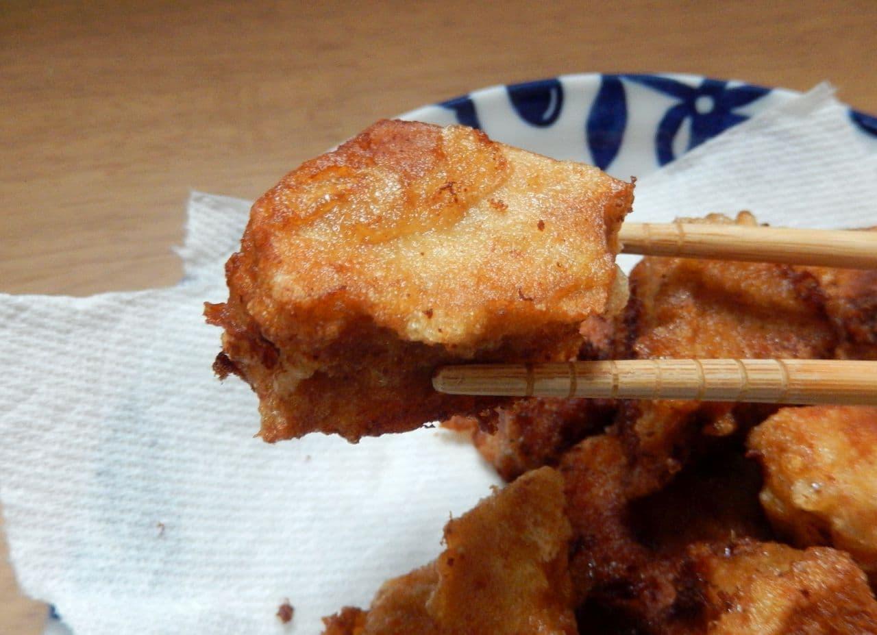 「高野豆腐の唐揚げ」レシピ