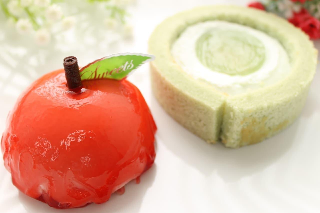 ローソン限定「赤りんご」「青りんご」ケーキ