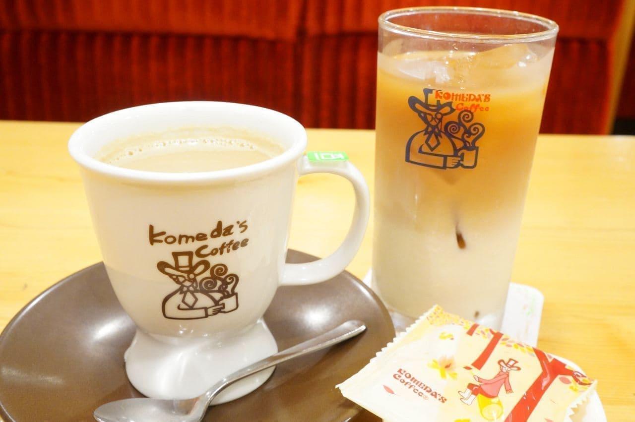 コメダ珈琲店「豆乳オーレ」と「小豆小町 桜」