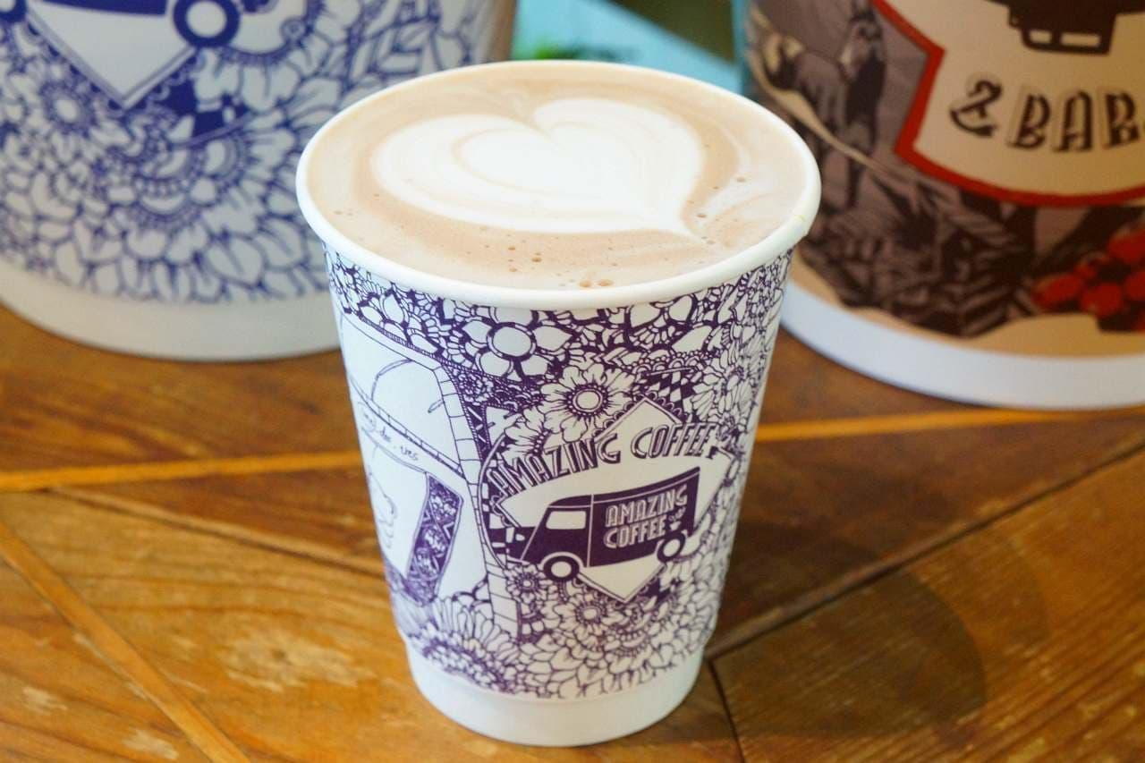 アメージングコーヒーのカフェラテとチョコモーモー