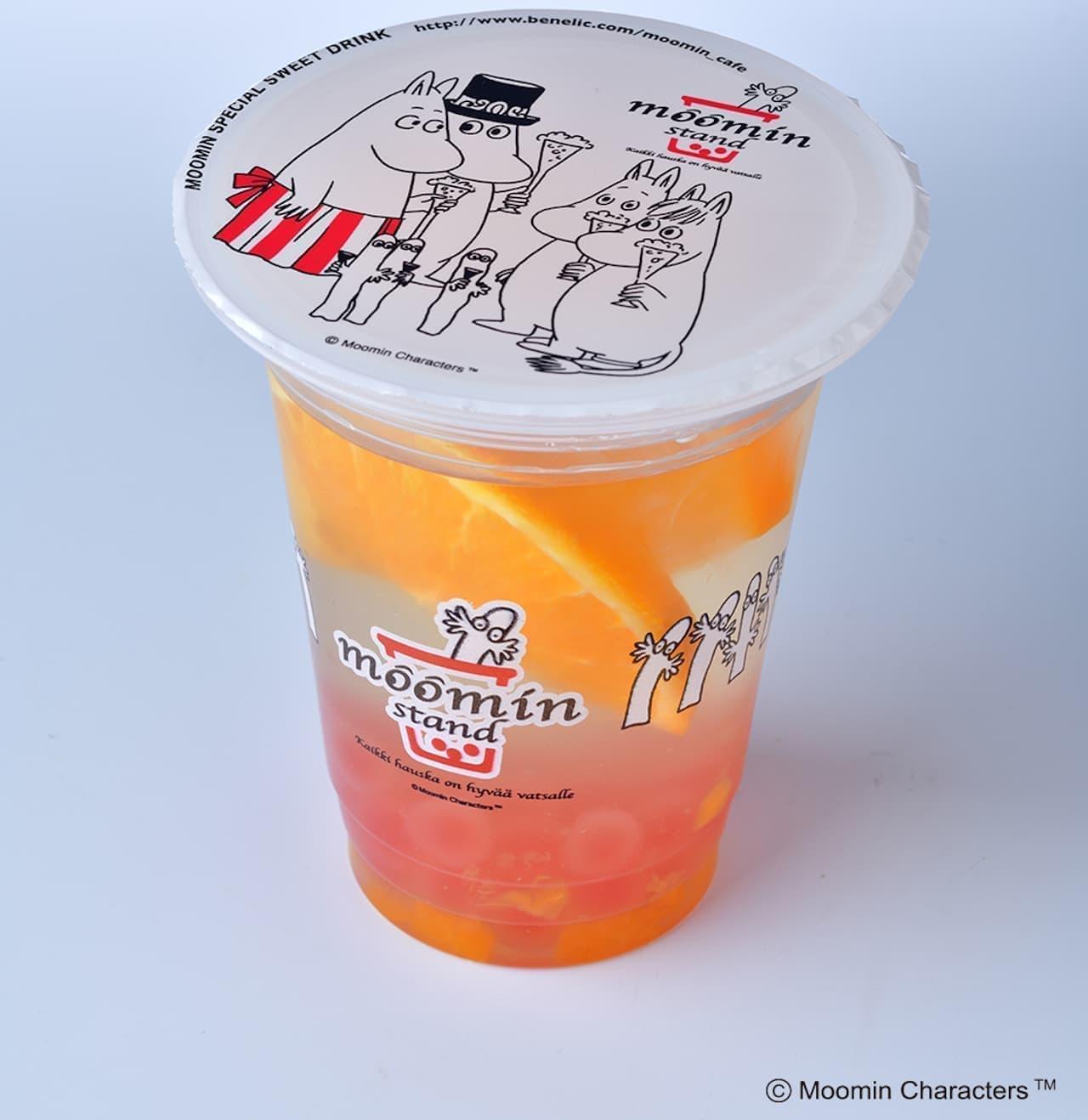ムーミンスタンド「抹茶クリームチーズ」「オレンジレモネード」