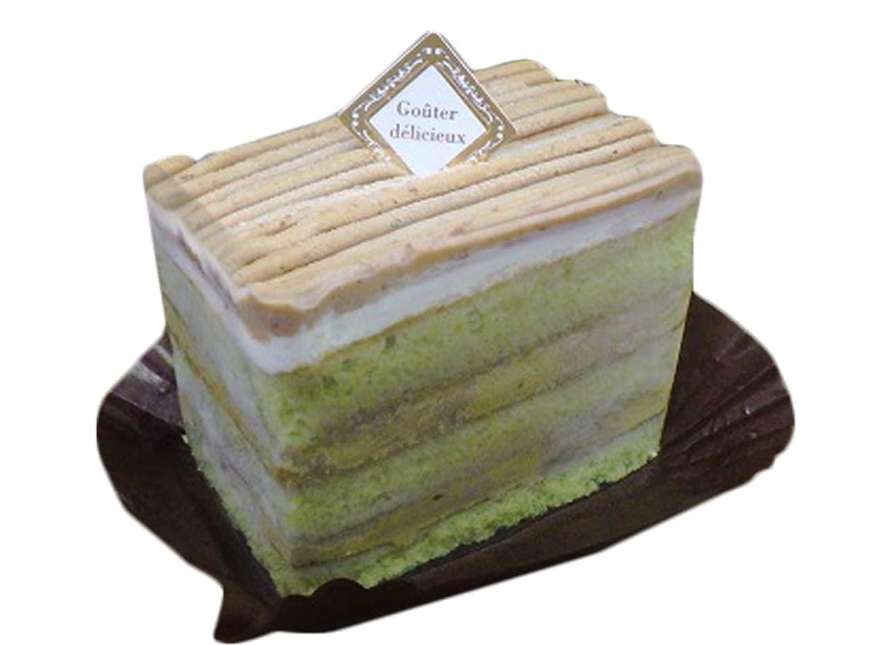 シャトレーゼ「抹茶とほうじ茶のケーキ」