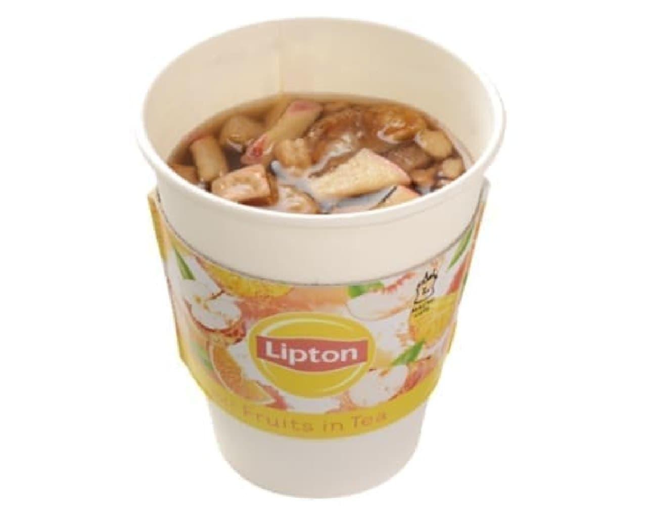 ローソン「MACHI cafe Lipton ホットフルーツインティー」