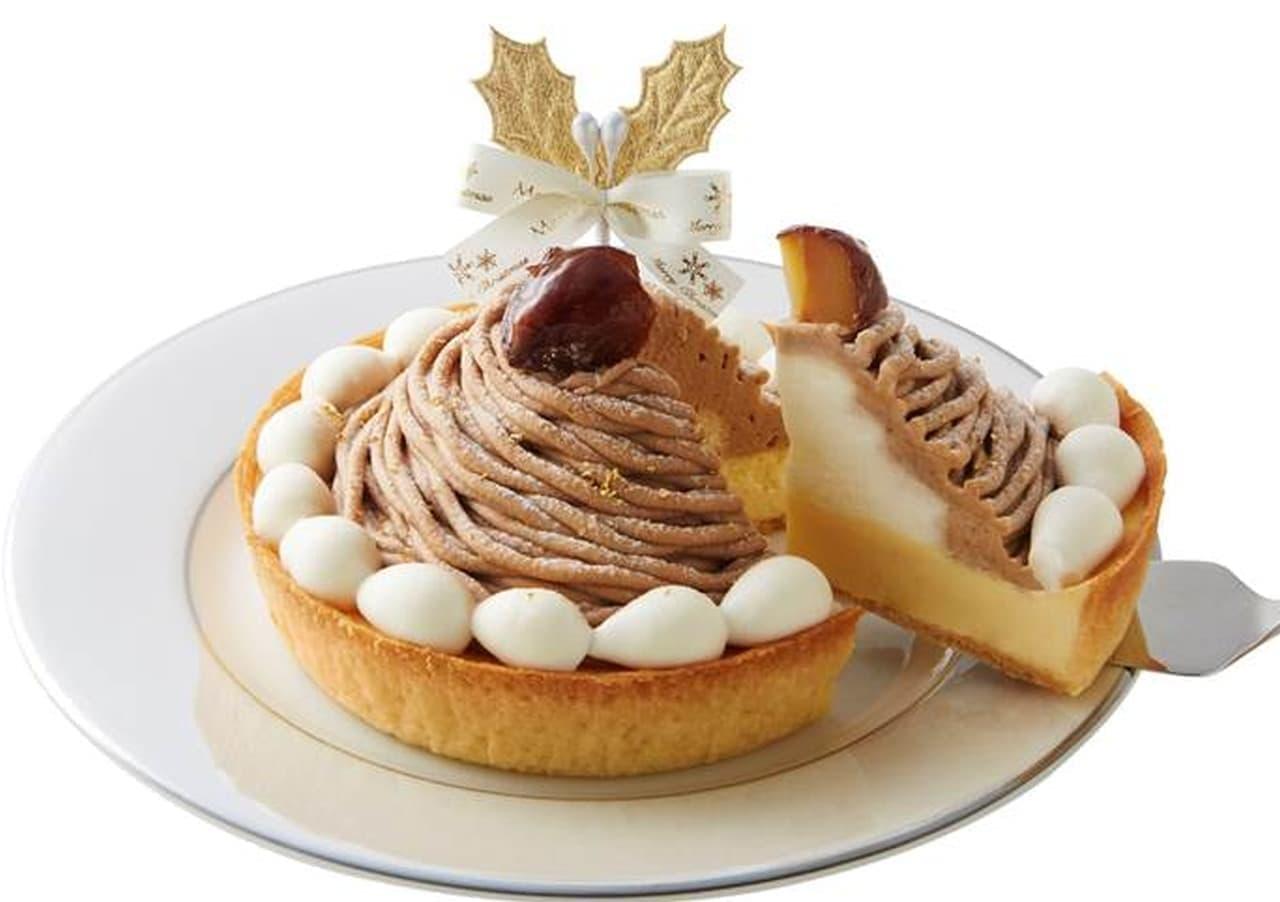 モロゾフ「クリスマス モンブランのチーズケーキ」