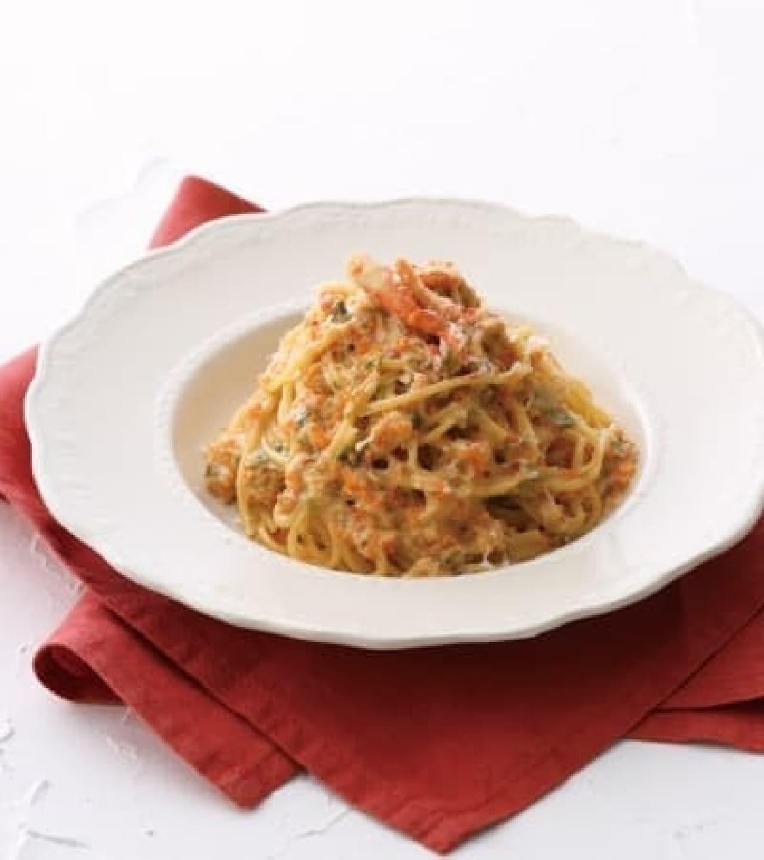 キハチ カフェ「紅ズワイ蟹と生海苔のクリームスパゲッティ」