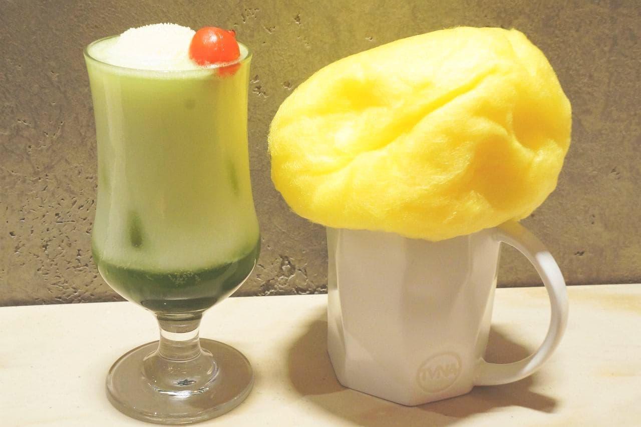 スターバックス リザーブ ロースタリー 東京の「ティバーナ クリーム ソーダ 抹茶」と「ゴールデンスカイ ブラック ティー ラテ」