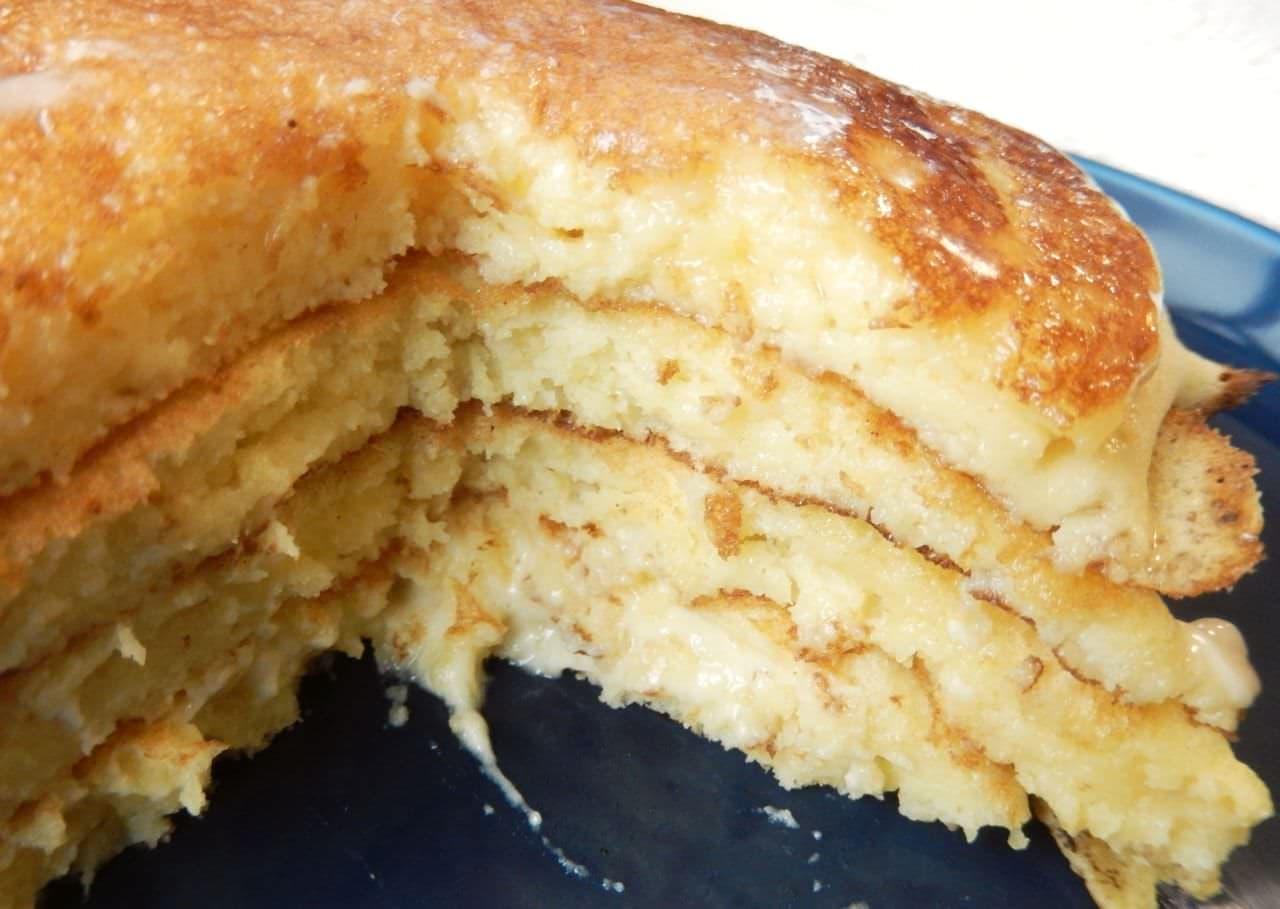 ヨーグルトでリコッタ風パンケーキ