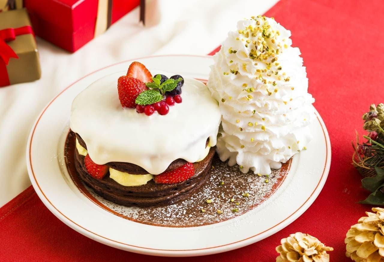 Eggs'n Things(エッグスンシングス)「クリスマスショコラショートパンケーキ」