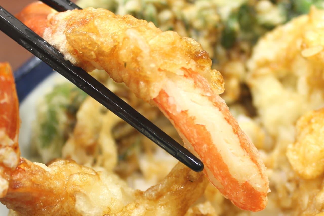 てんや「蟹と帆立の天丼」