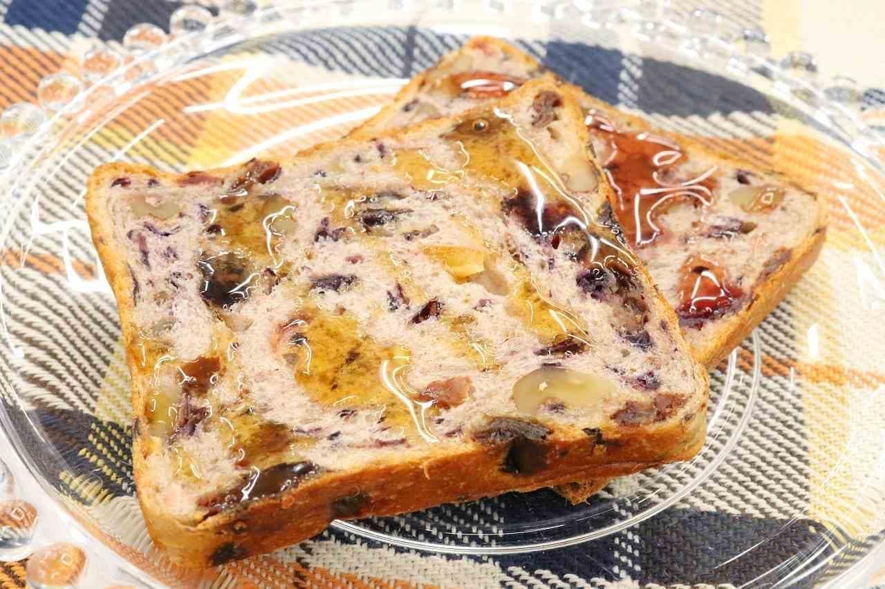 ルピシア「ティーハニー アールグレイ」「ティーハニー ローズヒップティー」をかけたパン