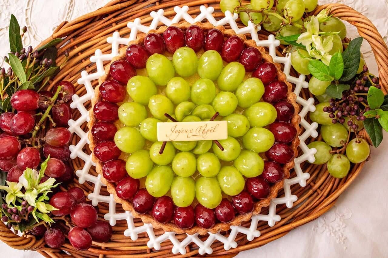 キル フェ ボン「2色のブドウのタルト」