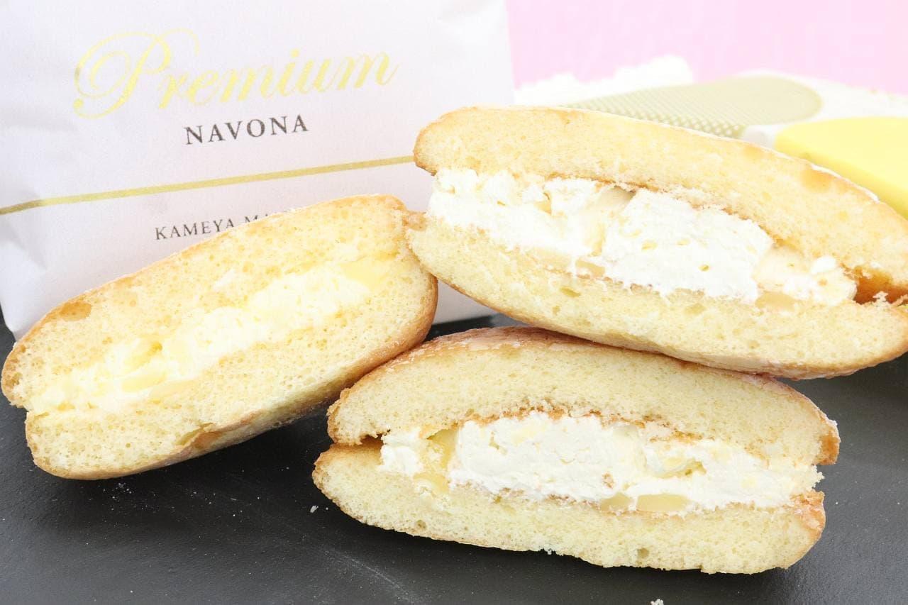亀屋万年堂の「ナボナ チーズクリーム」と「プレミアムナボナ」