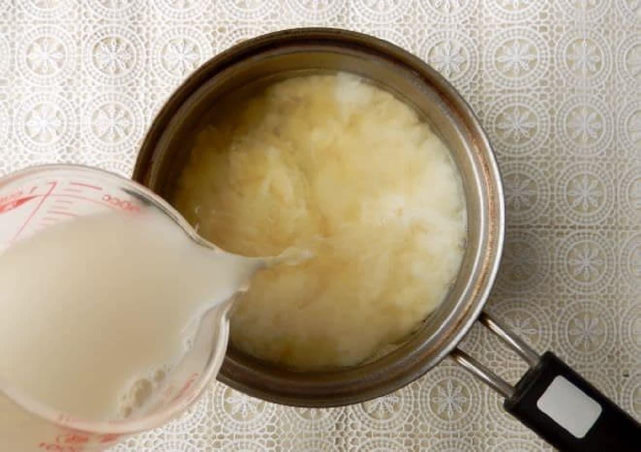 さつまいものミルクみそ汁