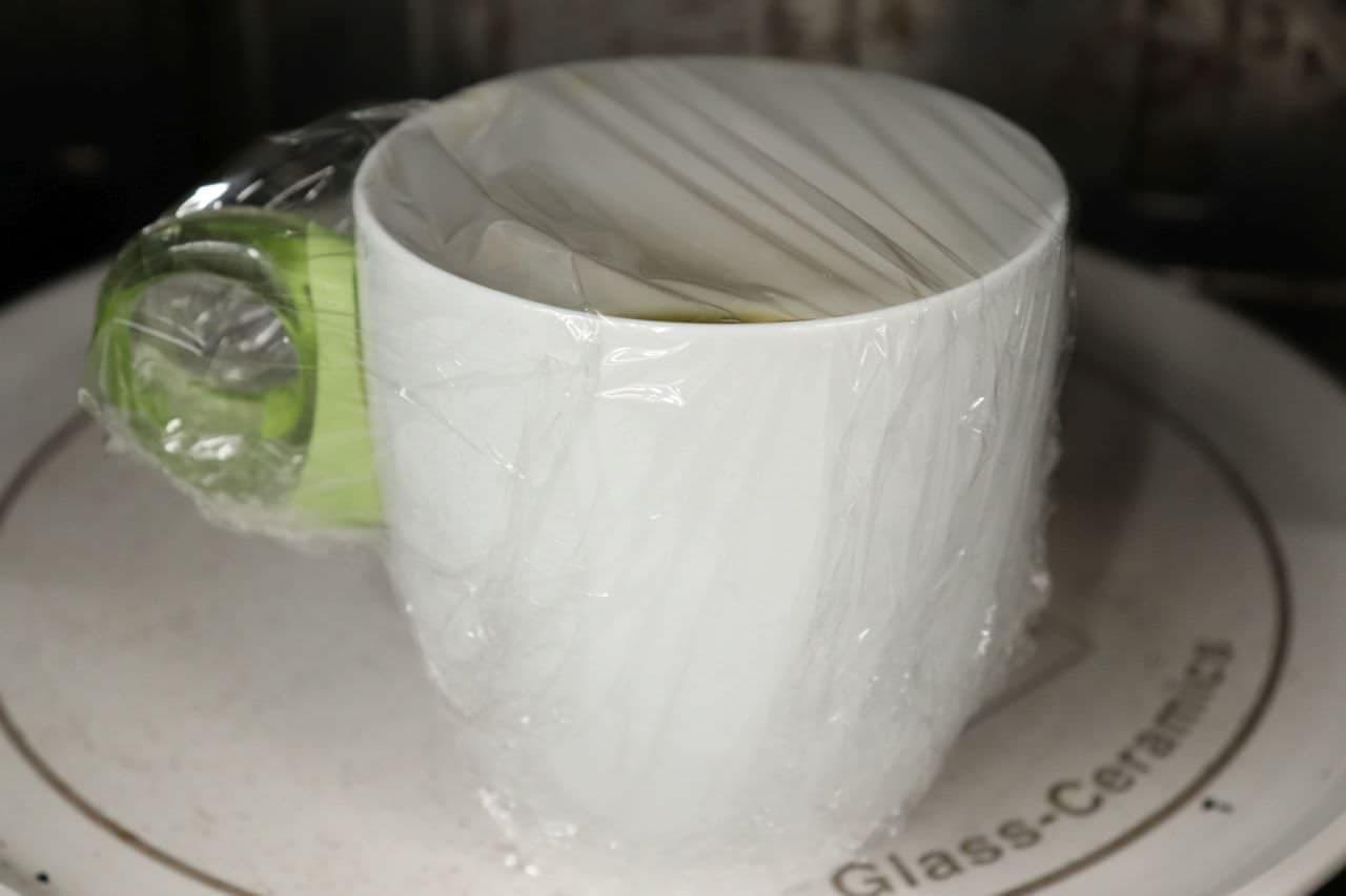 カップ麺の残り汁で茶碗蒸し