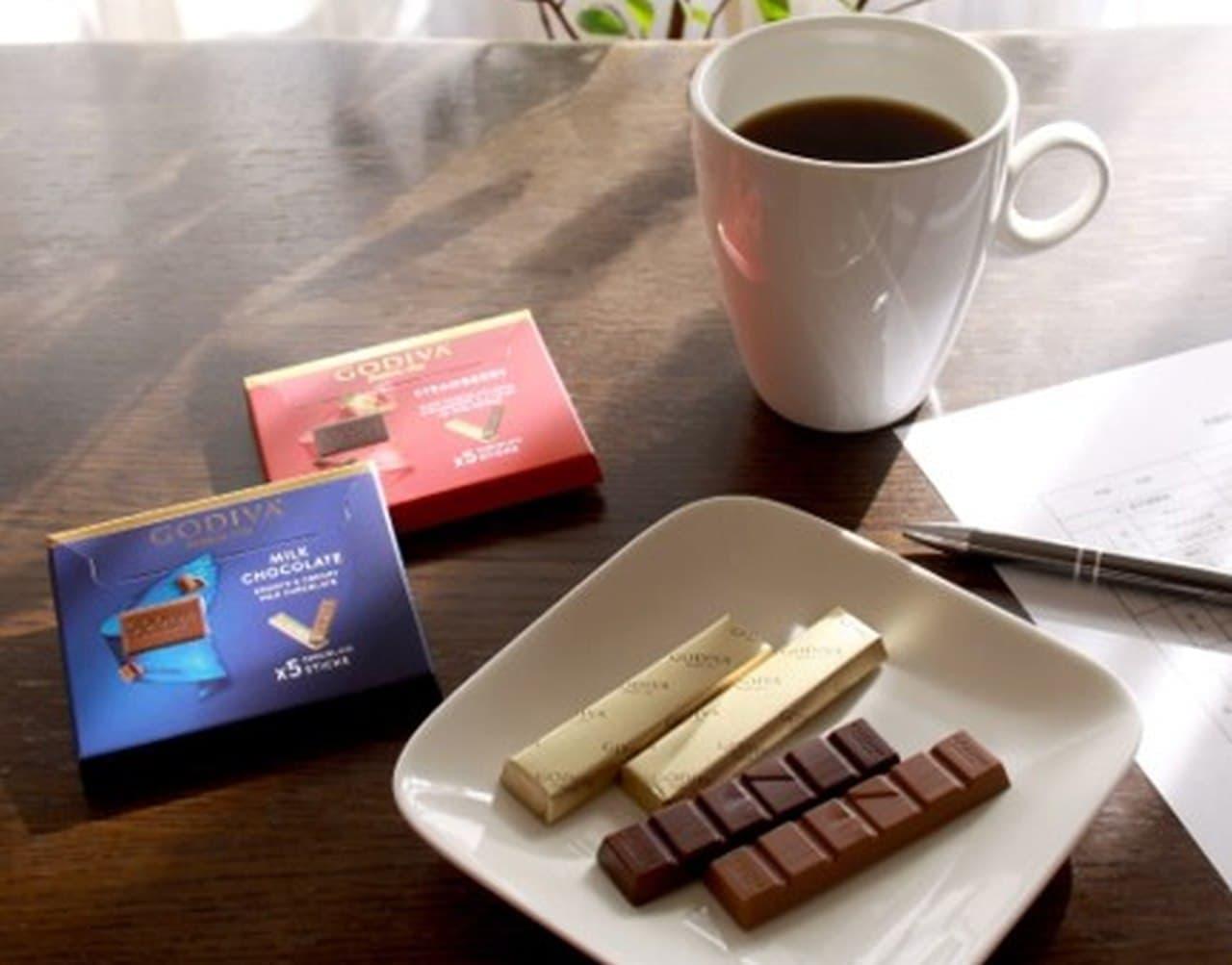 コンビニエンスストアに「ゴディバ ミルクチョコレート」、「ゴディバ ストロベリー」