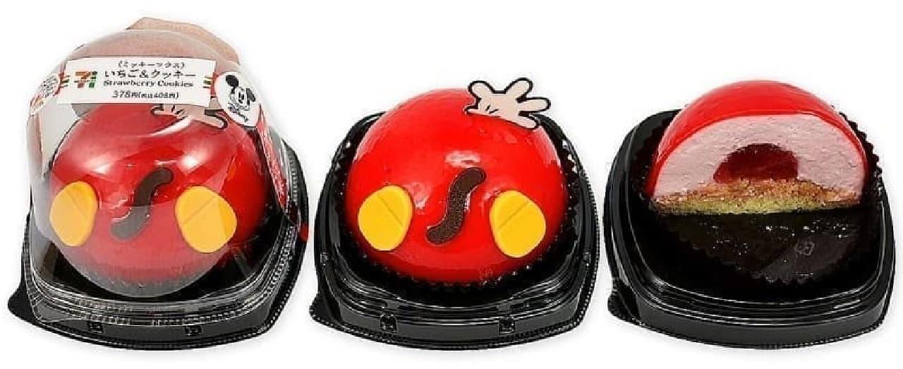 セブン-イレブン「いちご&クッキー/ミッキーマウス」