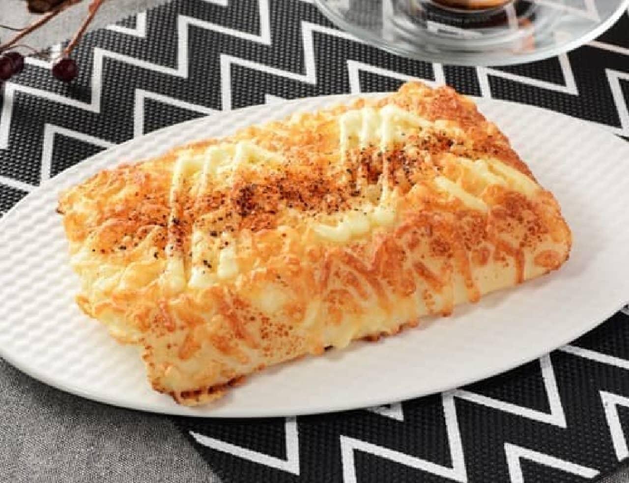 ローソン「一味と黒胡椒のチーズパン」