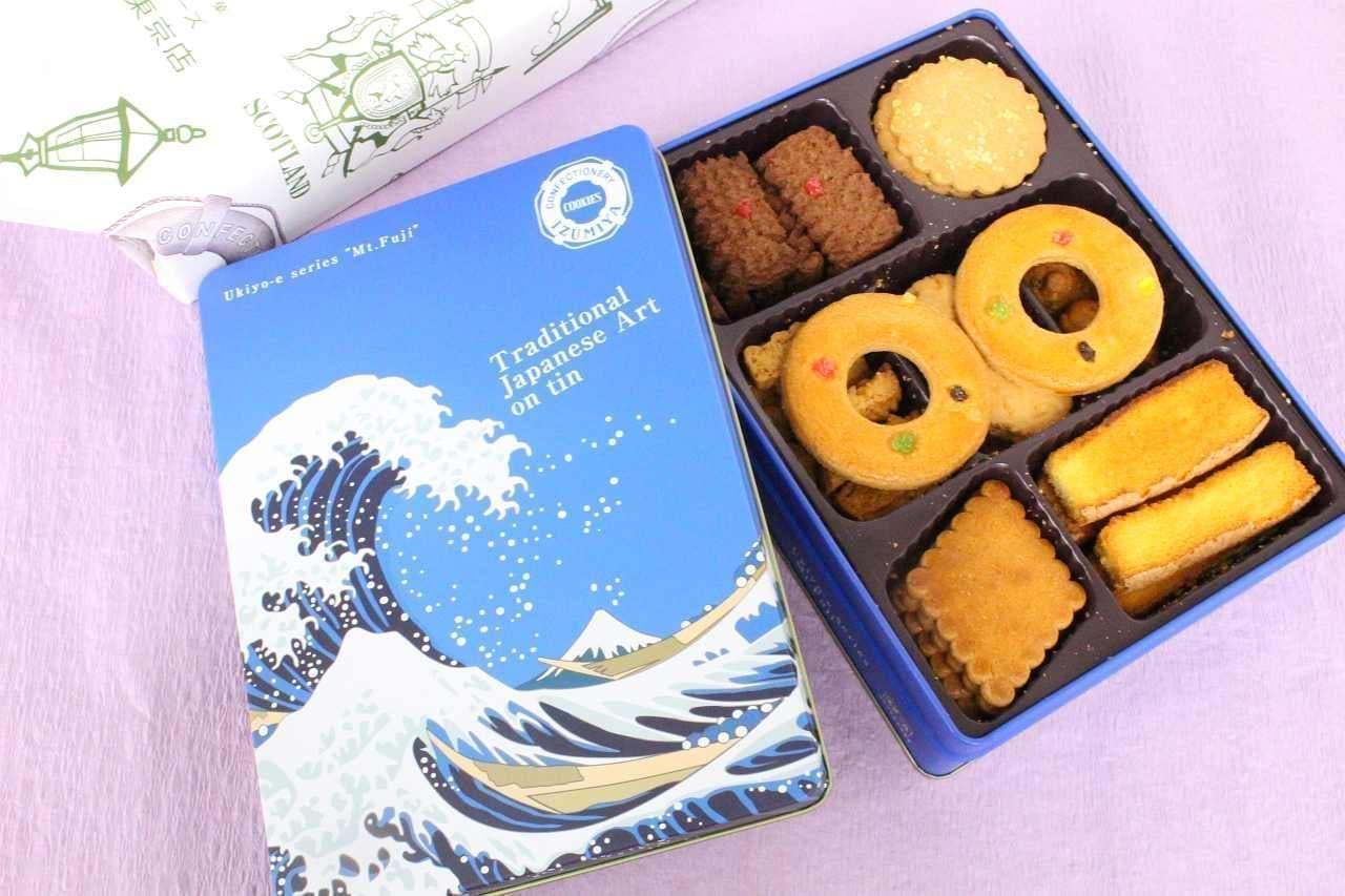 泉屋東京店「スペシャル クッキーズ」の波缶