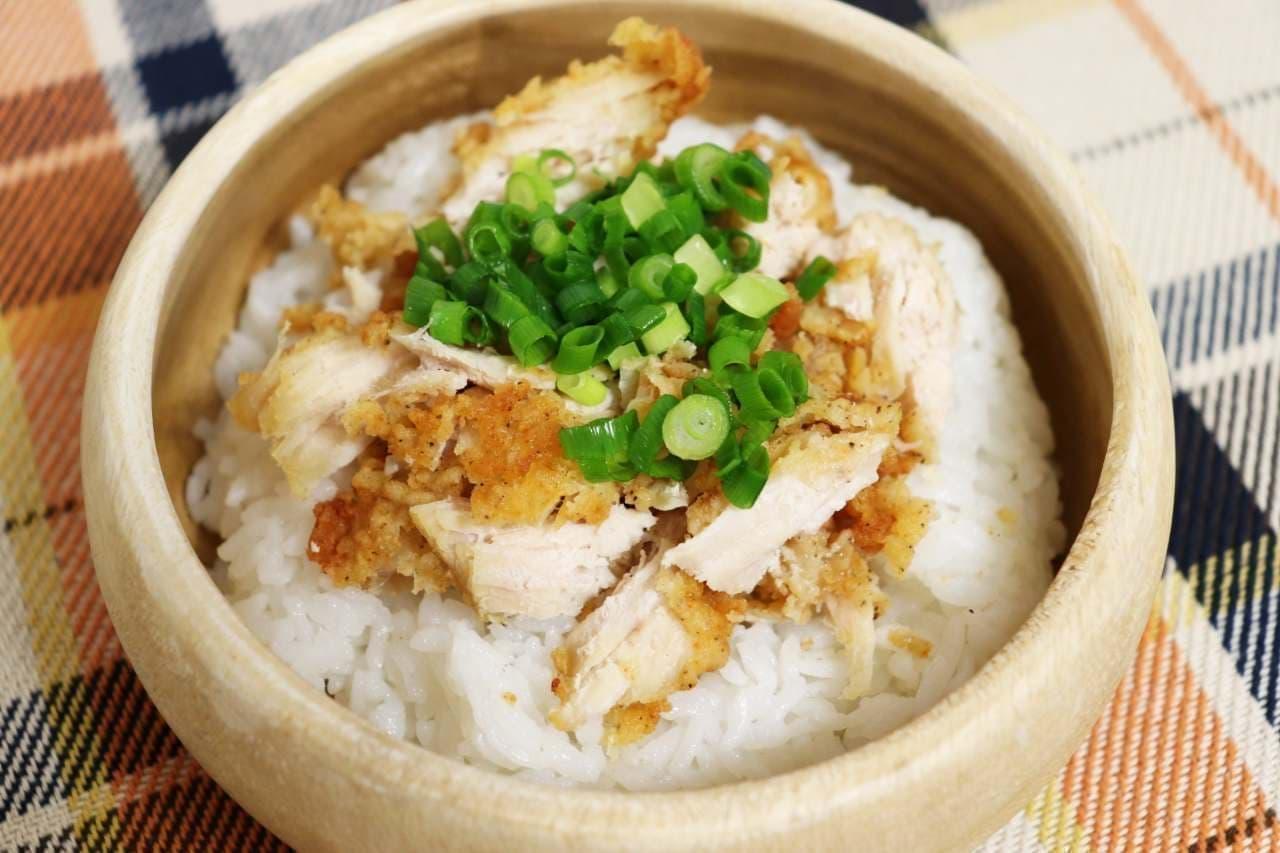 アレンジレシピ「チキンスープ丼」