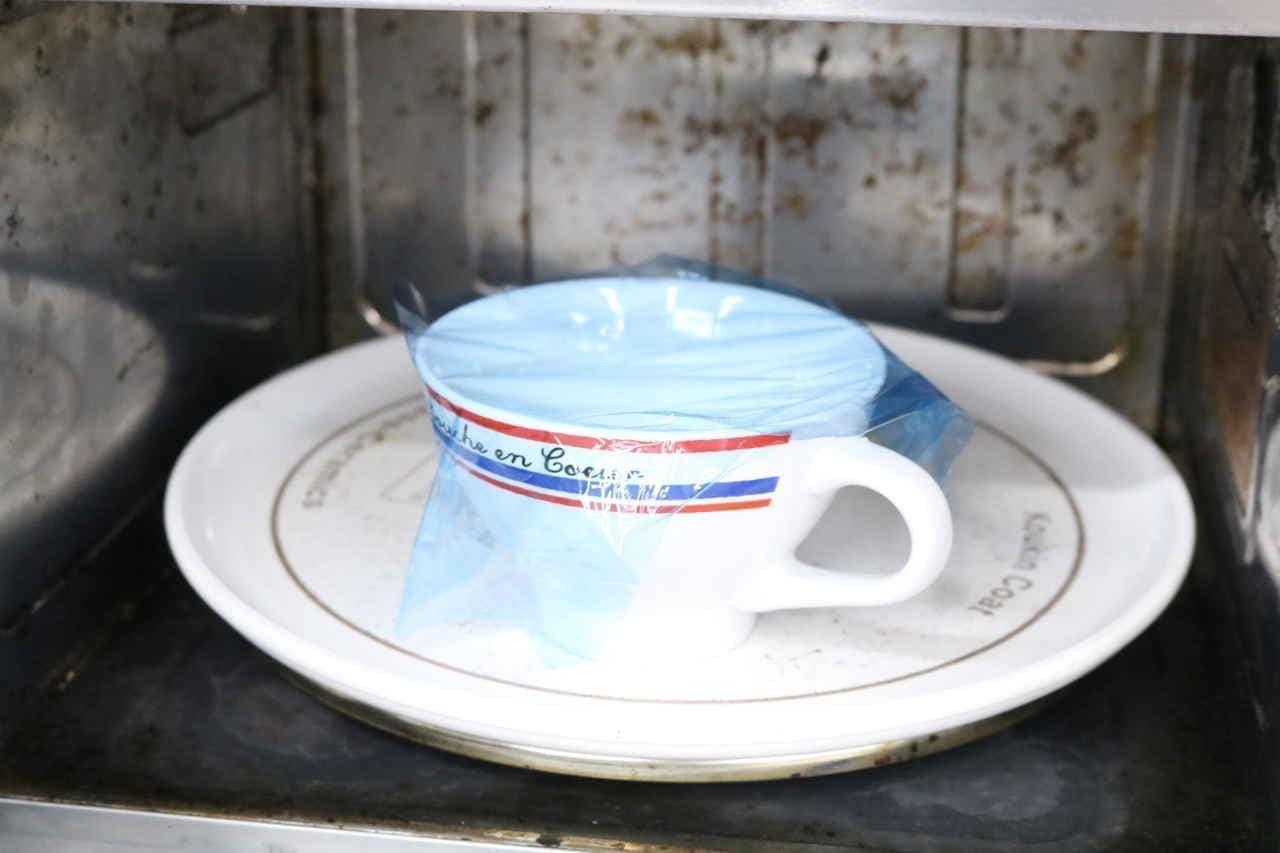 豆腐入りマグカップケーキ